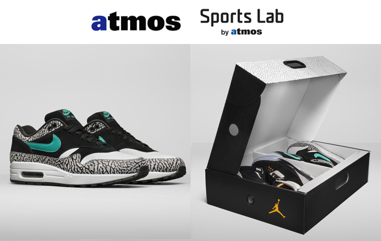 Sports Lab by atmos AIR JORDAN 3 MAXパック Air Max 1 販売方法発表