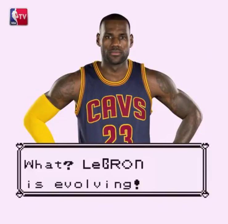 NBA TV ポケモン風 レブロン 広告