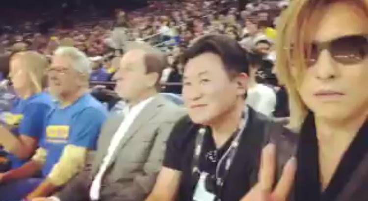 X Japan YOSHIKI NBA観戦